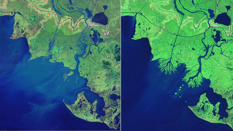 EE.UU.: Registran extraño crecimiento de tierras en el estado de Luisiana