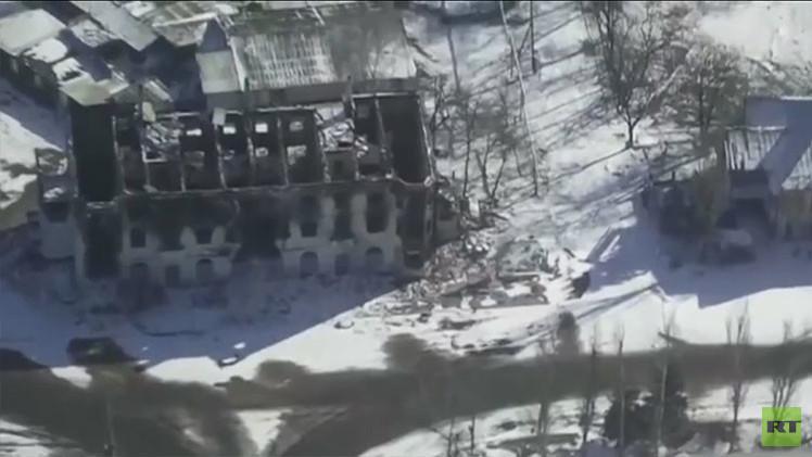 Video: Ciudades 'fantasma' claves para entender el conflicto ucraniano, a vista de dron