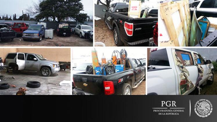 Taller artesanal de autos blindados en Tamaulipas