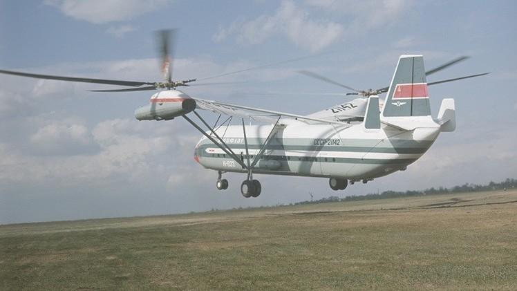 El helicóptero más pesado de fabricación soviética V-12