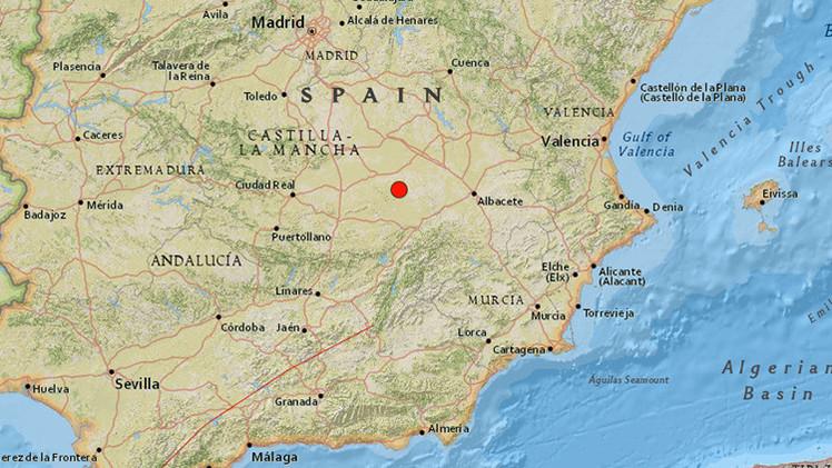 España: Se registra un terremoto con epicentro en Albacete