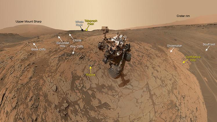 Curiosity se toma un 'selfie' desde Marte
