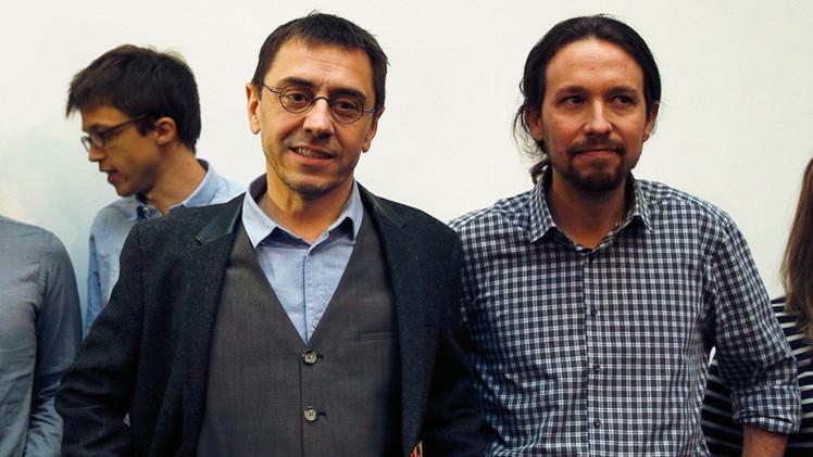 El partido opositor español Podemos publica la declaración de bienes de sus líderes