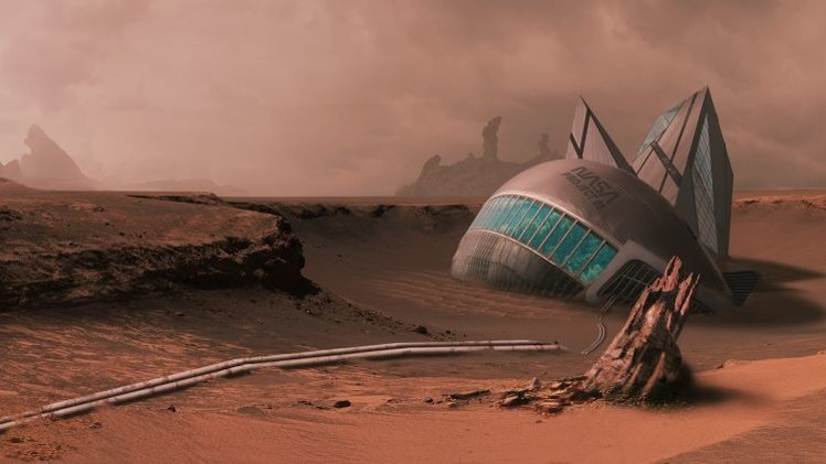 """Buzz Aldrin: """"EE.UU. debe establecer una base permanente en Marte"""""""