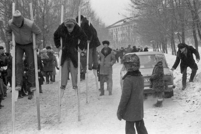 Celebración de la 'Máslenitsa', Novokuznetsk, 1984