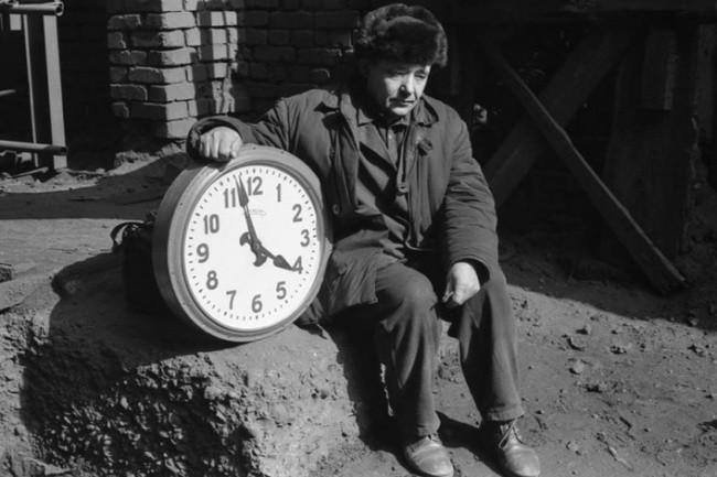Eléctrico en la mina de coque. Novokuznetsk, 1980