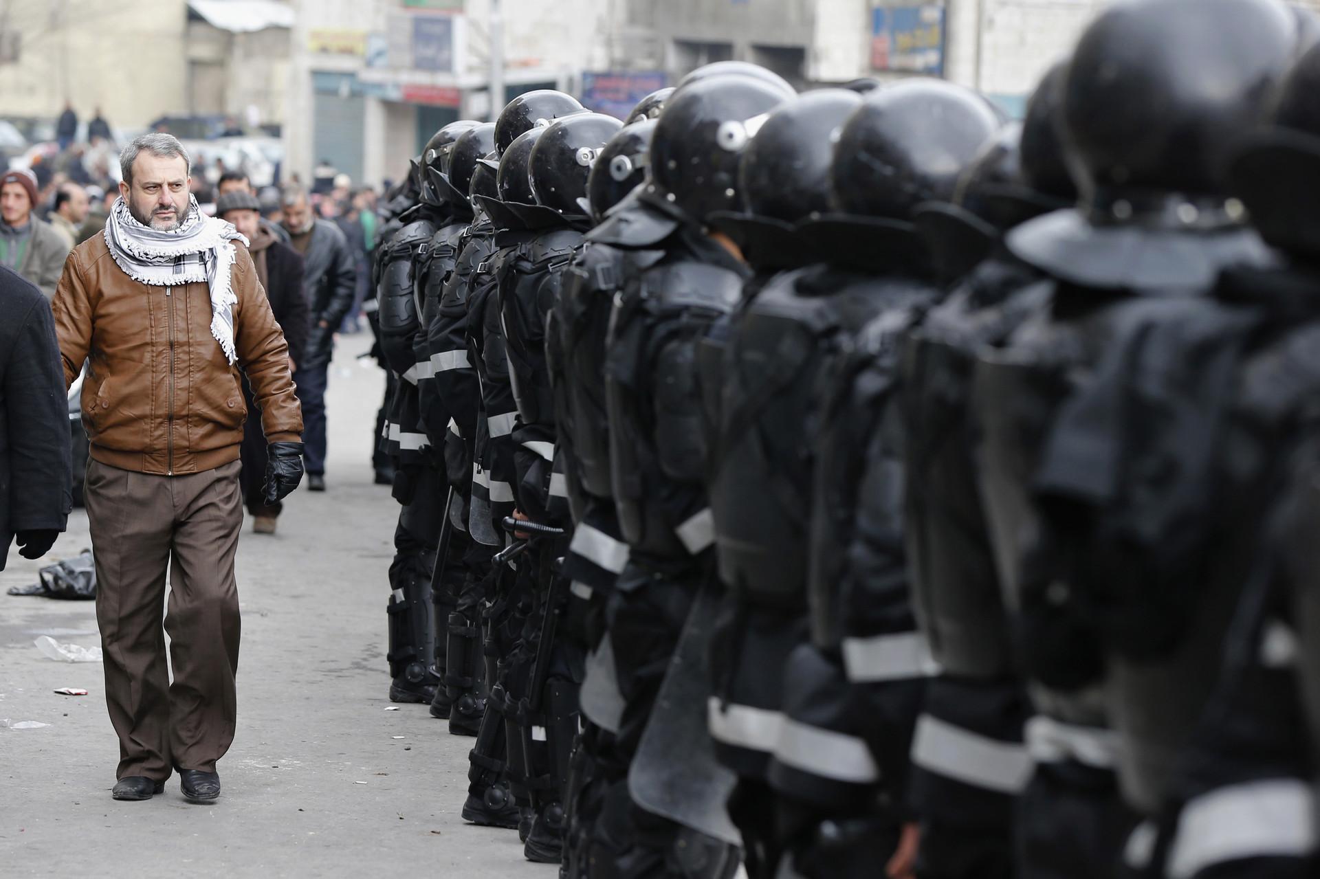 La policía jordana