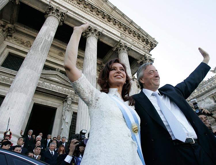 Kristina Fernández de Kirchner y Néstor Kirchner