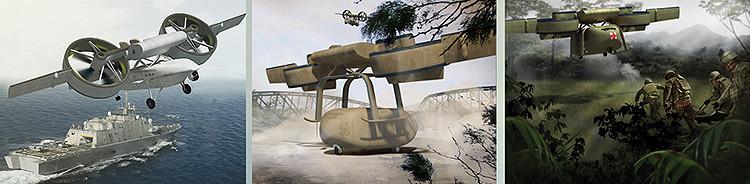 El Pentágono revela su nuevo proyecto de un dron 'transformer'