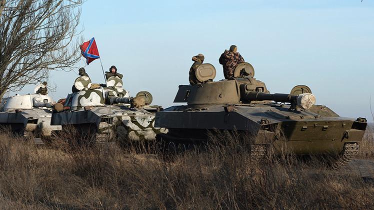 Donetsk y Lugansk anuncian la culminación de la retirada del armamento pesado