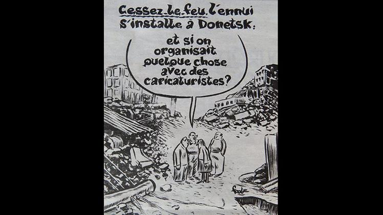 Una caricatura de 'Charlie Hebdo' sobre la tregua en Donetsk causa polémica en la Red