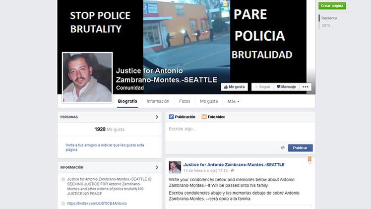Usuarios de Facebook exigen justicia por un mexicano asesinado por policías en EE.UU.