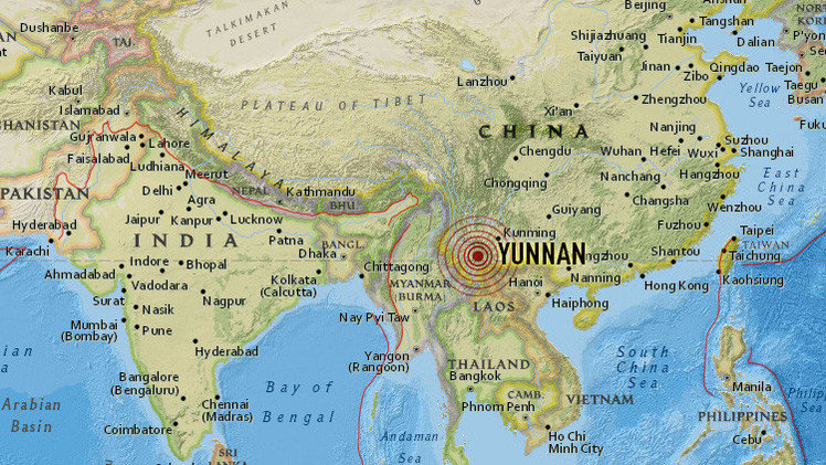 Sismo de 5.5 grados en suroeste de China deja 32 heridos