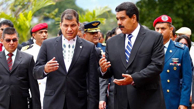 """Correa: """"El Gobierno de Venezuela se enfrenta a una guerra económica"""""""