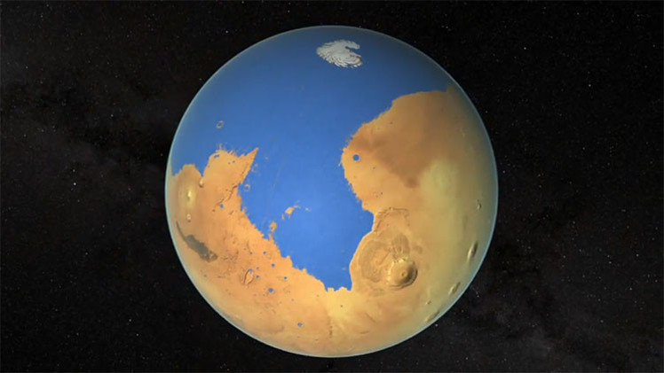 NASA: Marte tuvo un océano mayor que el Ártico