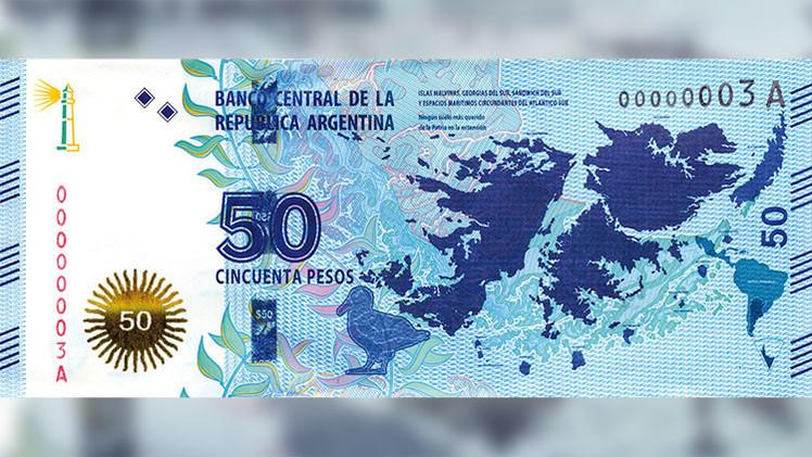 Argentina responde a Londres por ridiculizar el nuevo billete dedicado a las Malvinas