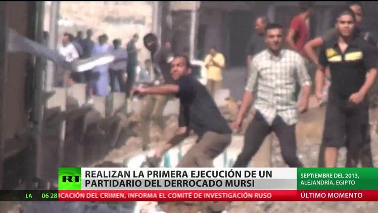 Realizan la primera ejecución de un partidario del derrocado Mursi
