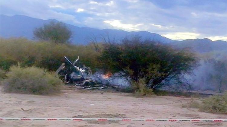 Videos: El impactante choque de dos helicópteros en Argentina