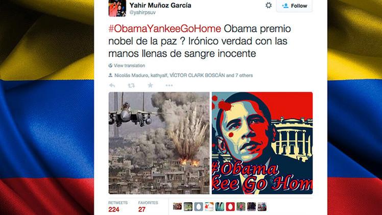 La etiqueta #ObamaYankeeGoHome se convierte en 'trending topic' en Twitter