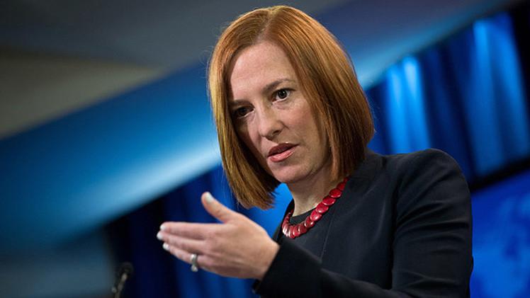Jen Psaki condena la película sobre la reunificación de Rusia y Crimea sin haberla visto