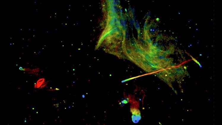 Astrónomos reciben imágenes en color de un masivo accidente galáctico