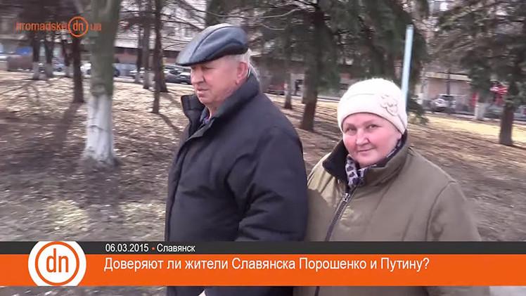 Sorpresa en la televisión ucraniana: Putin inspira más confianza que Poroshenko