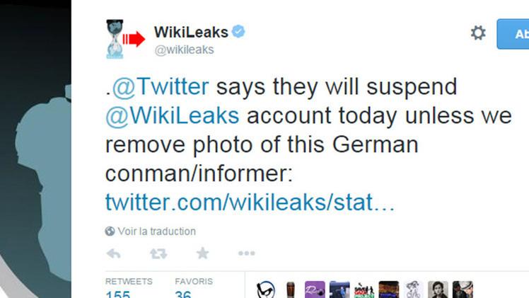 Twitter amenaza con suspender la cuenta de WikiLeaks