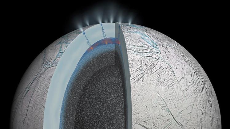 Hallan una prueba de que el mar oculto de una luna de Saturno podría albergar vida