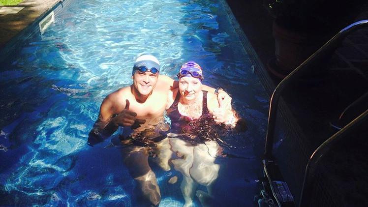 """""""Por la paz"""": un argentino y una inglesa unirán nadando las Malvinas"""