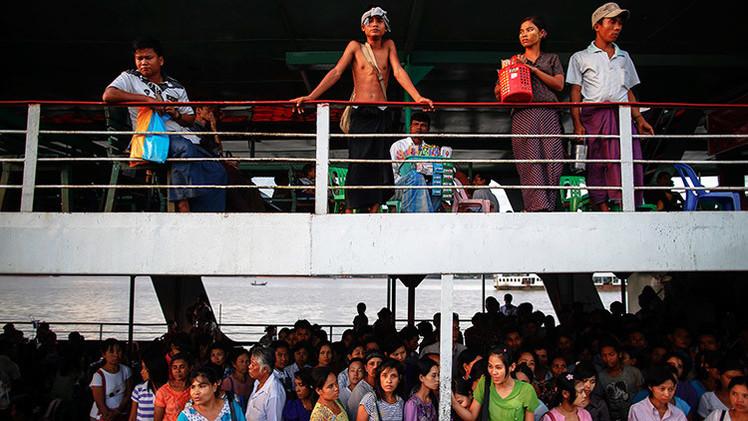 El hundimiento de un barco deja al menos 60 muertos en Birmania