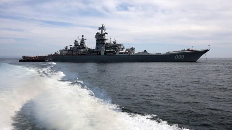 Crucero nuclear Pedro el Grande de la Flota del Norte de Rusia
