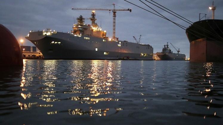 Se inicia en Francia la prueba del portahelicópteros Mistral encargado por Rusia