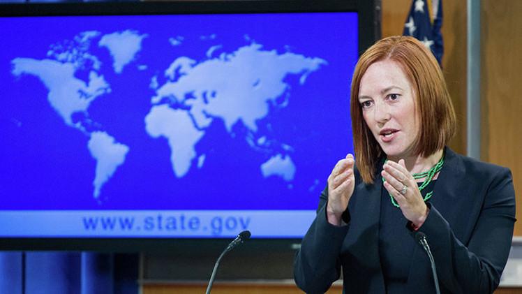 Psaki hace reír a los periodistas al decir que EE.UU. no apoya golpes de Estado