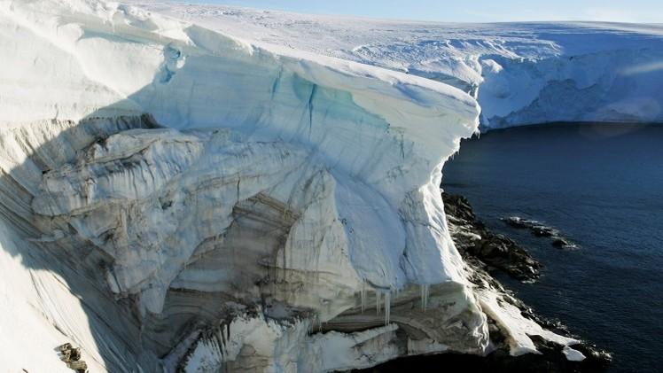 Un glaciar que se derrite en Cape Denison, Antártida. 2 de enerode 2012