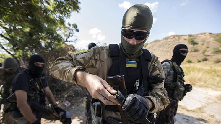 Un soldado ucraniano