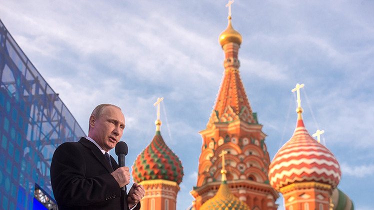 """Putin: """"Iremos hacia adelante para reforzar nuestro sentido de Estado"""""""