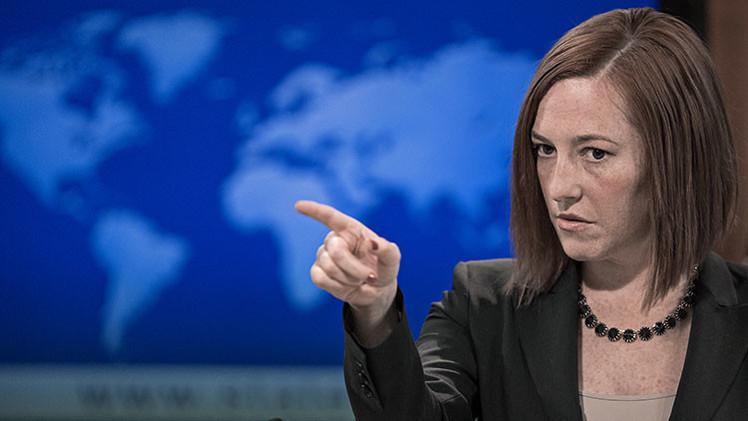 """Psaki: """"Situación en Ucrania dependerá de cómo se cumpla la ley del estatus especial de Donbass"""""""