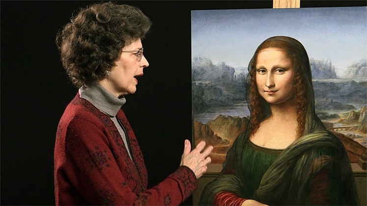 Una artista de EE.UU. reproduce a 'La Mona Lisa'