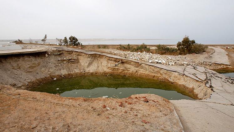 La venganza de la naturaleza: Cientos de dolinas se están formando alrededor del mar Muerto