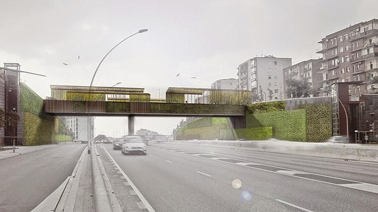 Un 'puente verde' en Barcelona se limpiará a sí mismo y al aire, y brillará por la noche