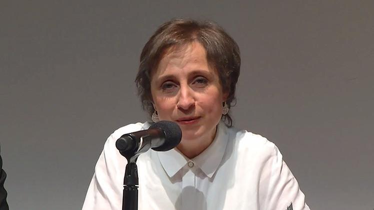 """Aristegui denuncia la """"reinstalación del autoritarismo mexicano"""""""