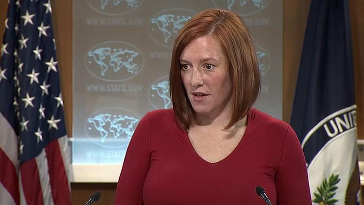 Psaki: EE.UU. no tiene intención de entrar en guerra con Rusia en Ucrania