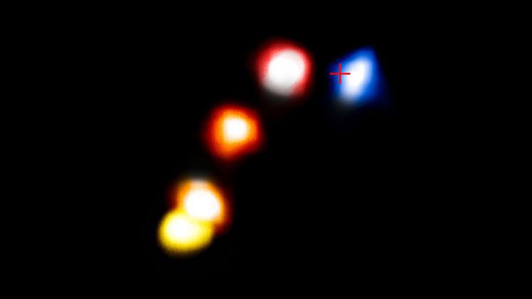 Foto: El misterioso objeto que sobrevivió un encuentro cercano con un agujero negro