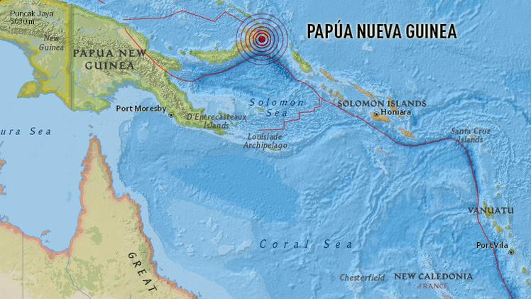 Un terremoto de magnitud 7,7 causa amenaza de tsunami en Papúa Nueva Guinea