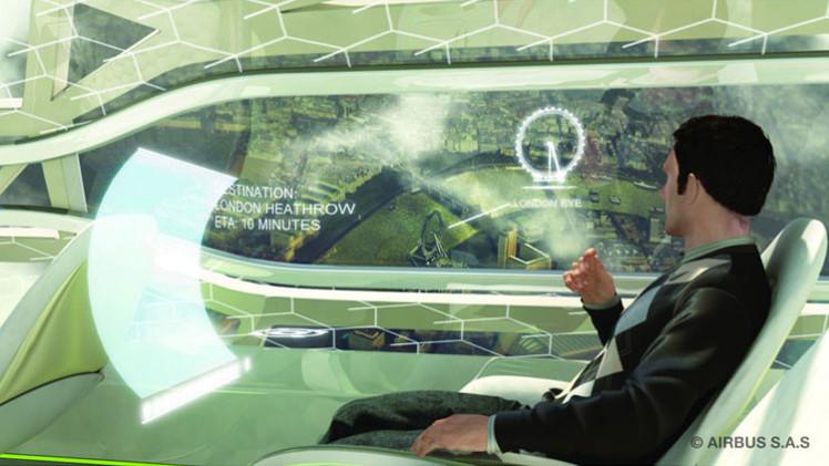 Video: Airbus promete ventanillas 'inteligentes' e interactivas