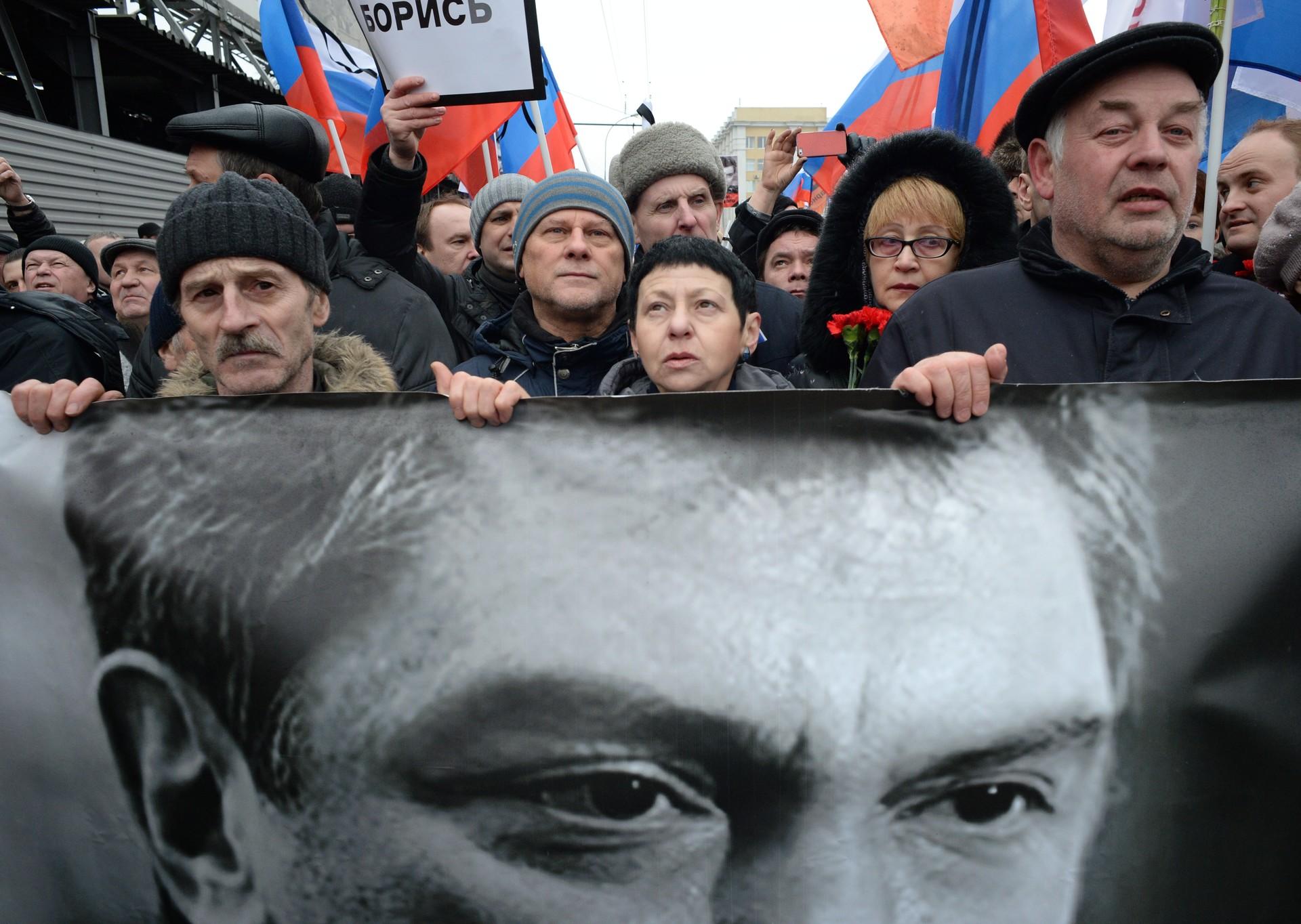 Marcha de luto en Moscú