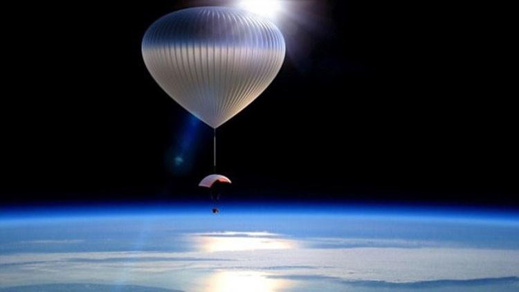 El globo en la estratosfera