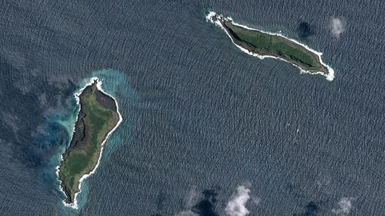 FOTOS: Primeras imágenes de la isla recién formada en el Océano Pacífico
