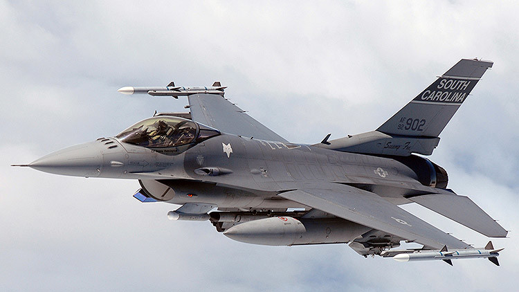 F-16C of the South Carolina Air National Guard in-flight over North Carolina
