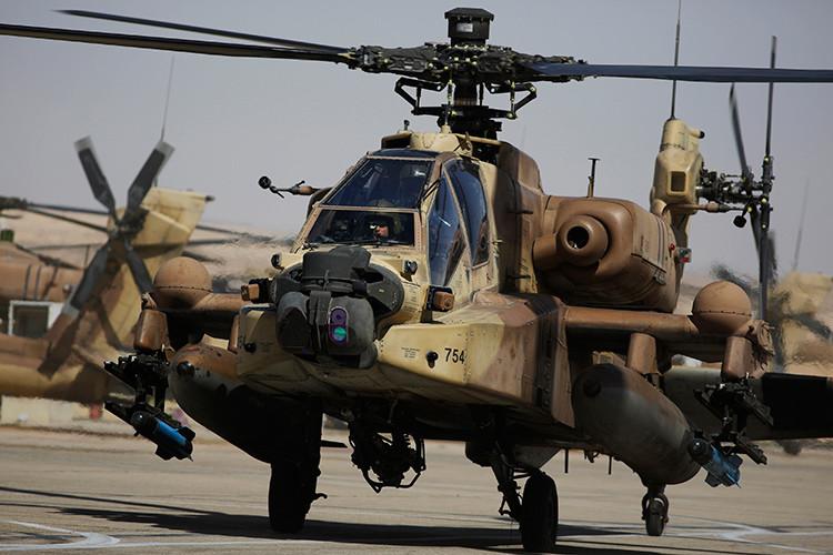 Israeli Apache helicopter